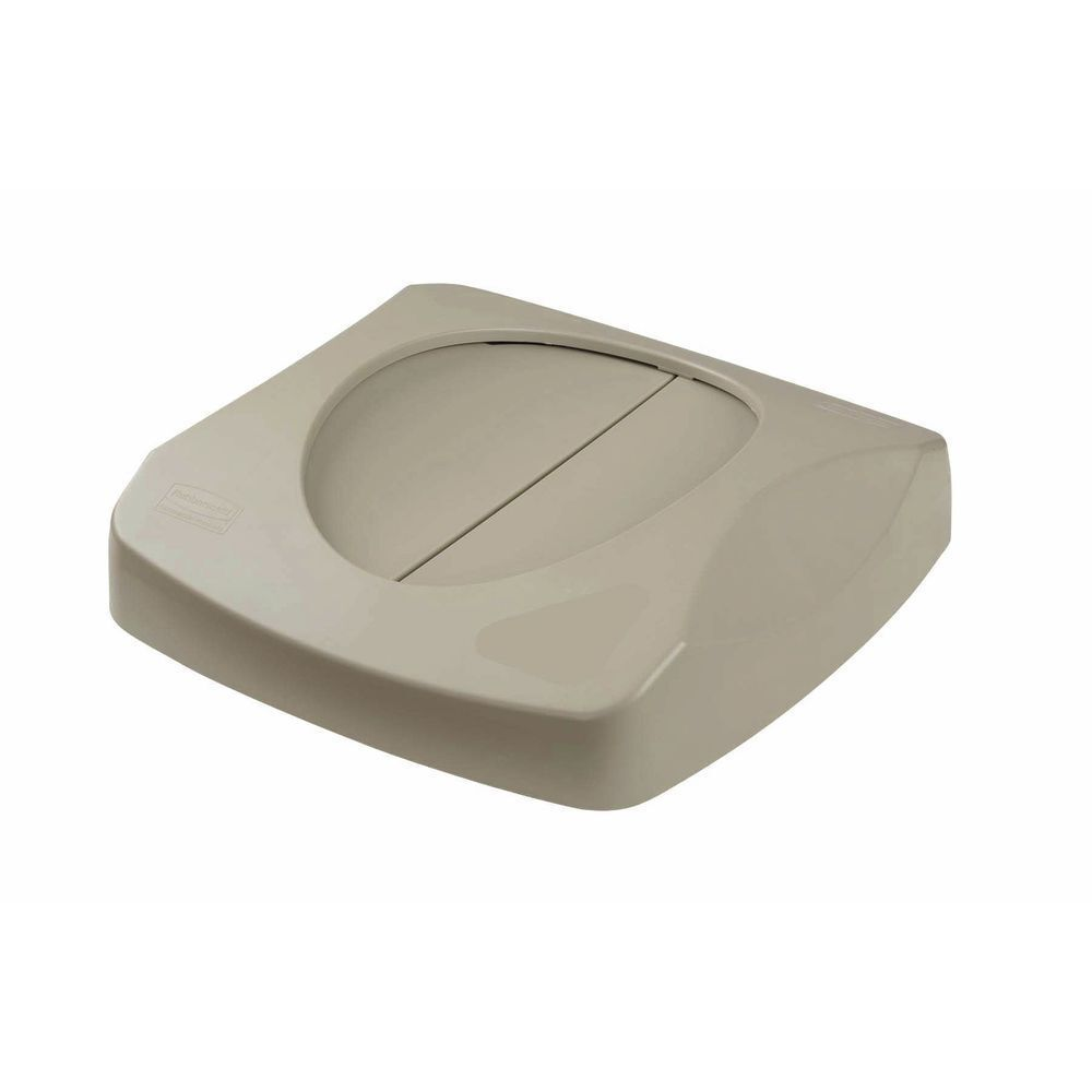 Rubbermaid Beige Plastic Swing Lid For 23 gal Untouchable Trash Receptacle - 16