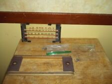 Vintage General Electric L 915 Console Radio Faceplate With Glass Amp Hardware