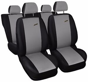 Car seat covers fit Vauxhall Adam black//grey  leatherette full set