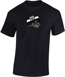 Ride Free Motorbike T-Shirt Personalised Motorcycle Motorbike Bike Funny Gift