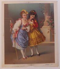 Chromolithographie Costumes XIXème Siècle Femme Testu Massin