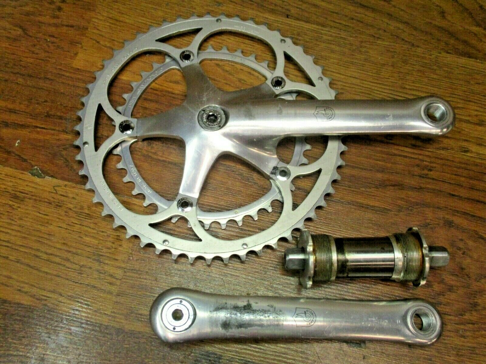 VINTAGE CAMPAGNOLO CHORUS 170L 1325 BCD 52 39T AS CRANK SET & ENGLISH BB