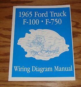 1965 Ford Truck F100 - F750 Wiring Diagram Manual Brochure ...