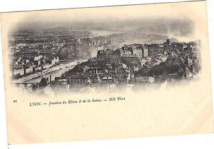 69-cartolina-LIONE-Giunzione-Rodano-e-di-la-Saone