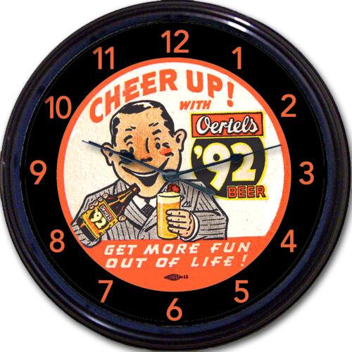 "Oertels Beer Coaster Wall Clock Louisville KY Ale Lager Brew Pub Man Cave 10/"""