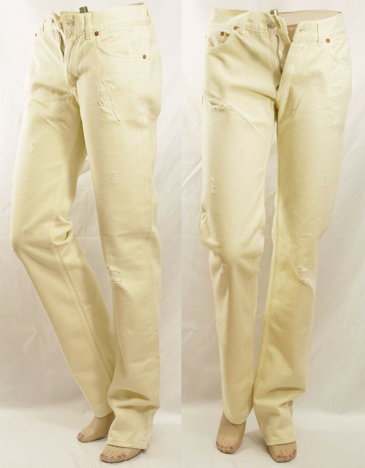 ACNE HER WHITE TRASHED 25 26 27 28 29 30 Destroyed Jeans Women Holiday Gift