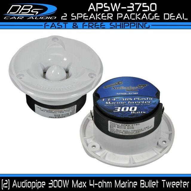"""AUDIOPIPE MARINE APSW-3750 Audiopipe Marine 3 1//4/"""" Tweeter 300W max Sold each"""