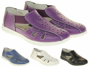 Womens-Wide-Fit-EEE-Coolers-Leather-Shoes-Ladies-Summer-Sandals-Size-4-5-6-7-8
