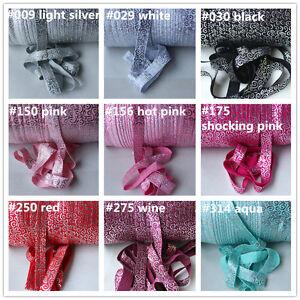 2m-Premium-Fold-Over-Elastic-15mm-SILVER-SWIRLS-Headband-FOE-Craft-UK-seller