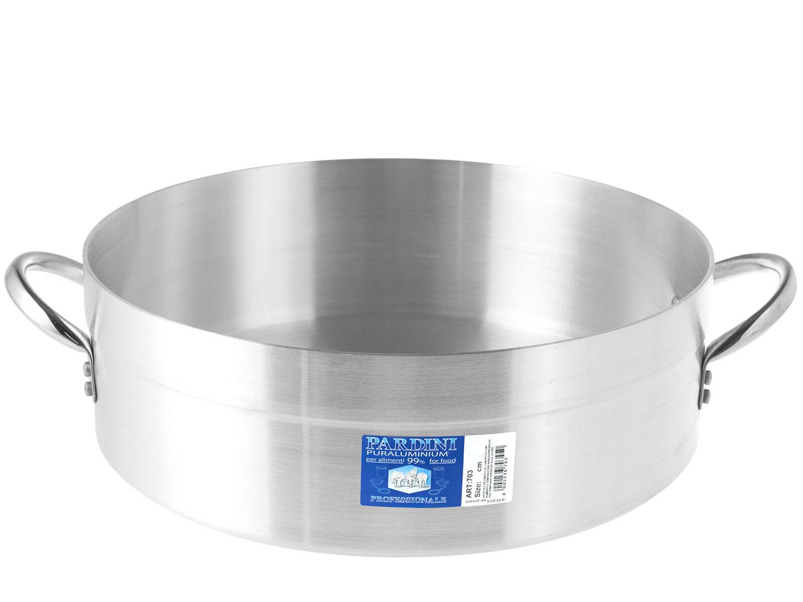 PARDINI Casseruola alluminio bassa albergo 2 manici 12 pentola da cucina