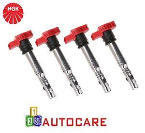 X4-NGK-Bobina-De-Encendido-Conector-4-pin-Stark-para-Audi-A3-VW-Golf-2-0-TFSI-2-0-TSI