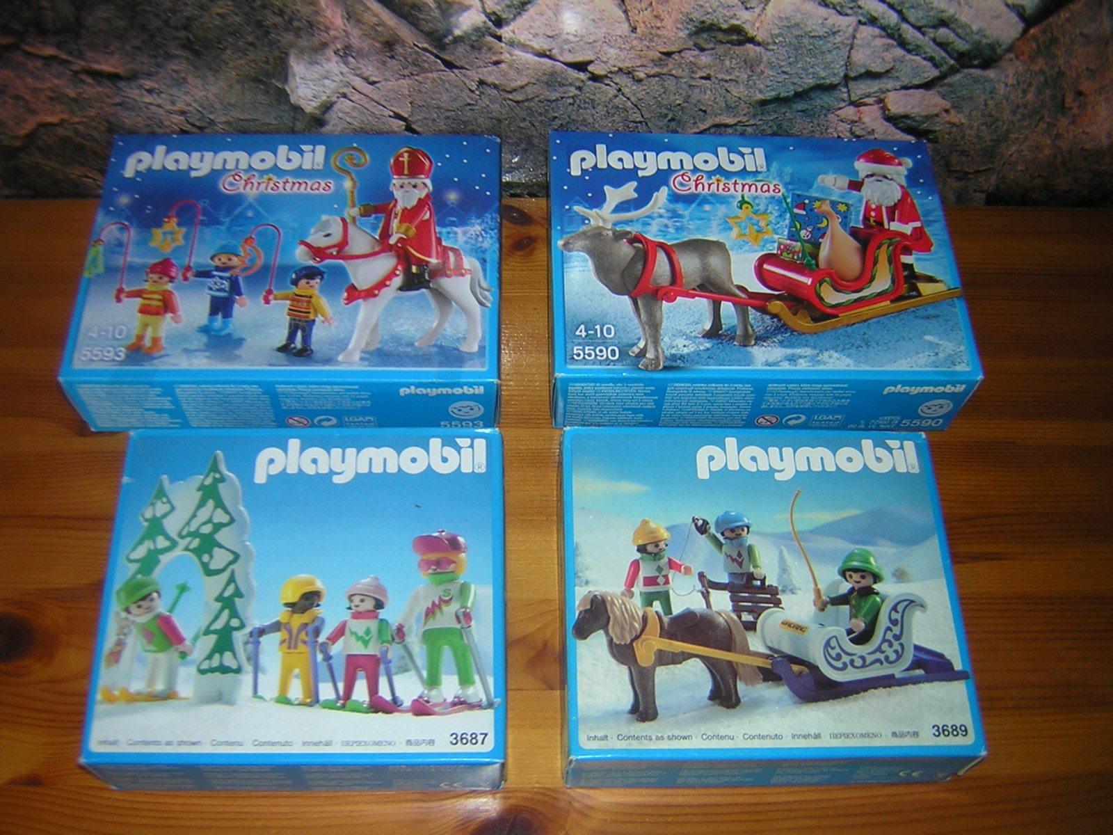 (A 2) hiver Noël 3687 3689 5590 5593 Neuf Emballage d'origine Maison de poupée