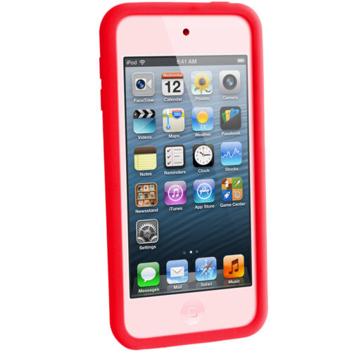 Rojo silicona piel caso para Apple iPod 6th 5th Generation Itouch Gel Touch Cubierta