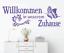 X4632-Wandtattoo-Spruch-Willkommen-in-unserem-Zuhause-Sticker-Wandaufkleber-Bild Indexbild 1