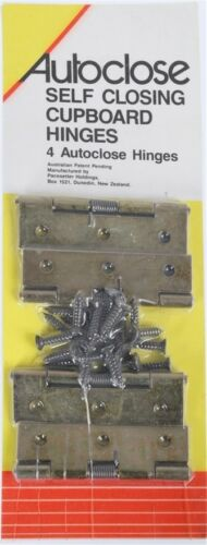Self Closing Cupboard Hinges 65mm with Fixing Screws Set of 4