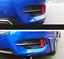 Carbon fiber Car Rear Fog Lamp Light Cover trim 2pcs For Honda Civic 2016-2018