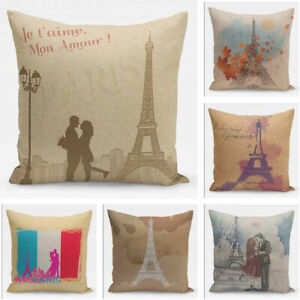 Paris-Eiffel-Tower-Sofa-Retro-Square-Cushion-Cover-Home-Decor-Seat-Pillow-Case
