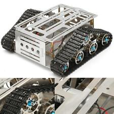 Intelligent Robot Tank Chassis Tracked Vehicle Crawler Base Stainless Silver New