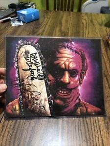 RA Mihailoff Leatherface Texas Chainsaw Massacre 3 hand signed 8X10 Art Print