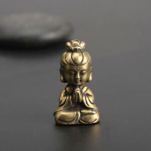 Chinese-old-Antique-Collectible-Brass-girl-hand-piece-Exquisite-Pendant