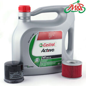Honda FJS 600 D4 Silverwing Non ABS 2004 Castrol 10w40 Oil and Filter