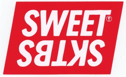 Sweet Skateboard Sticker Logo Rot Weiß 12x7,5cm Rechteckig