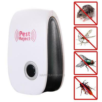 Electronic Ultrasonic Pest Reject Cockroach Bug Mosquito Mouse Killer Repeller