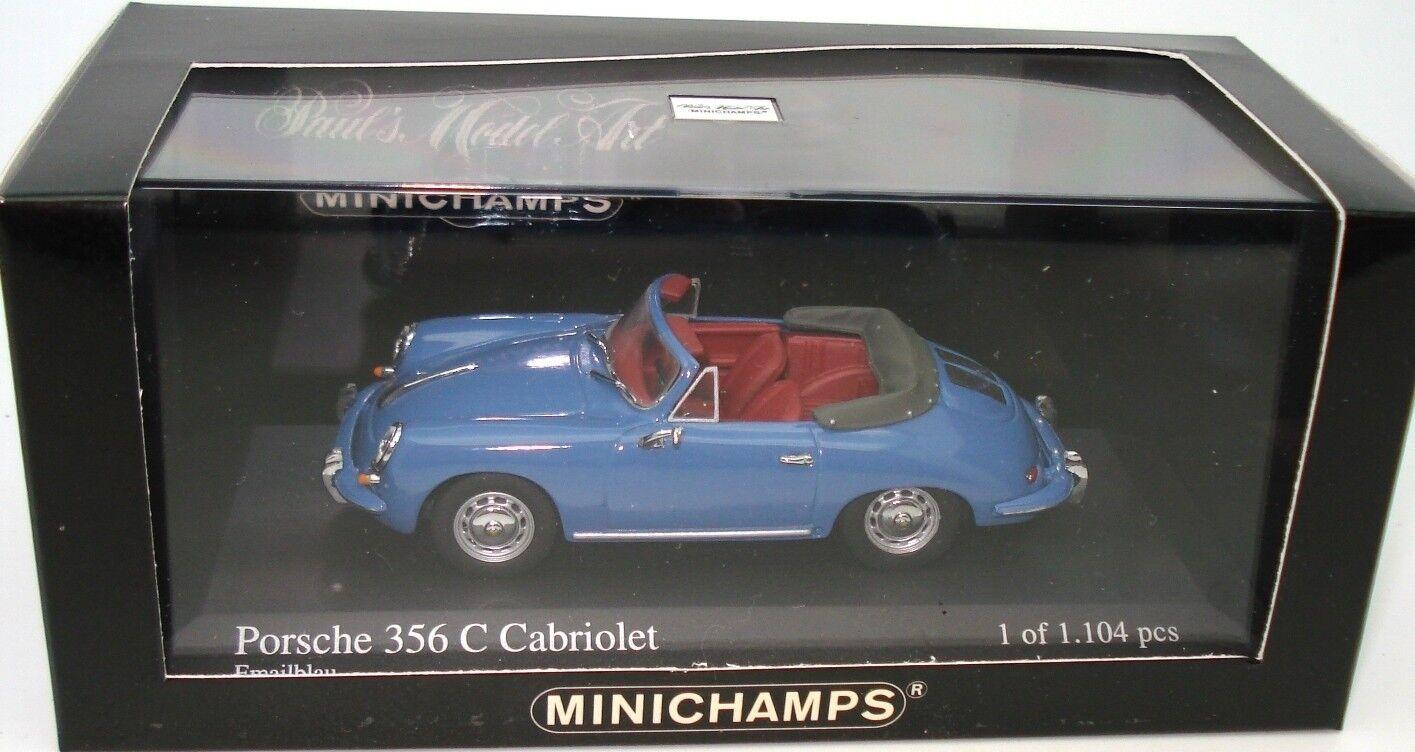 Minichamps 1 43 1965 Porsche 356 C Cabrio-Vintage 430 062336-como Nuevo En Caja