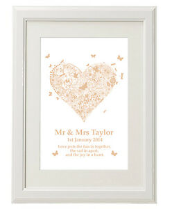Image Is Loading Unique Unusual Personalised Print Wedding 1st Anniversary Gifts