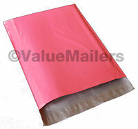 100 14x17 Pink Poly Mailers Shipping Envelopes Couture Boutique Quality Bags on sale