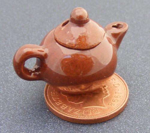 1:12 SCALA MARRONE IN CERAMICA TEIERA tumdee Casa delle Bambole Accessorio in miniatura Br21