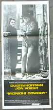 Midnight Cowboy Original Movie Poster Dustin Hoffman Jon Voight 1960s and
