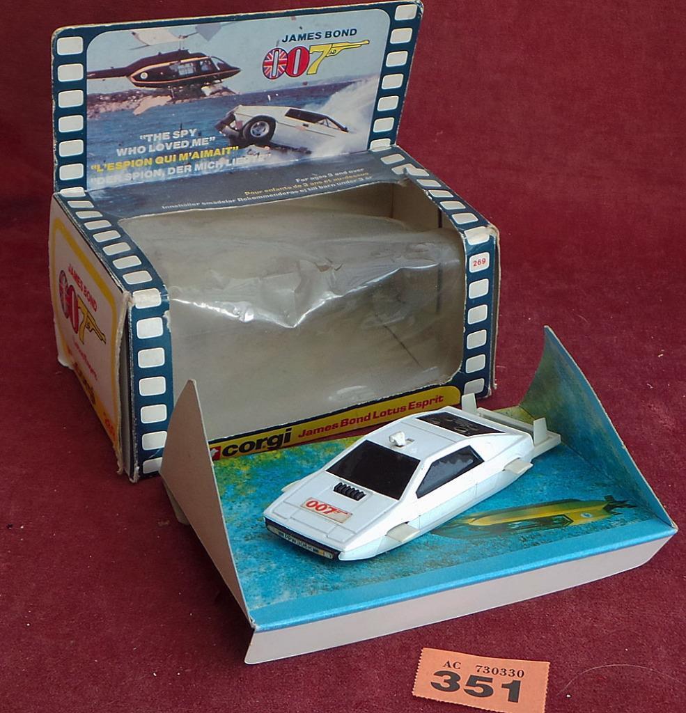 Vintage 1st question CORGI 269 BOND 007 LOTUS ESPRIT in box #351   Moelleux Et Léger    Porter-résistance    La Mise à Jour De Style