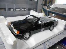 Mercedes Benz w124 e clase ce-24 Cabriolet Convertible Black 1990 norev HQ nuevo 1:18