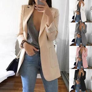 Women-Casual-Slim-Business-Blazer-Suit-Coat-Cardigan-Jacket-Coat-Lapel-Outwear