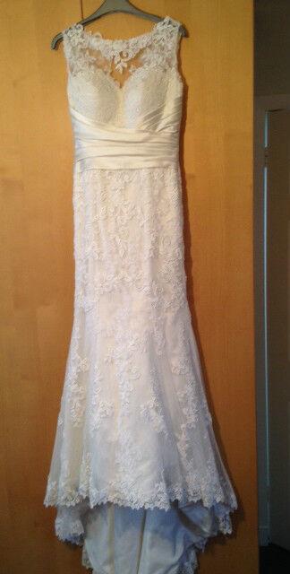 *Reduced price* Justin Alexander 8596 Wedding Dress Ivory