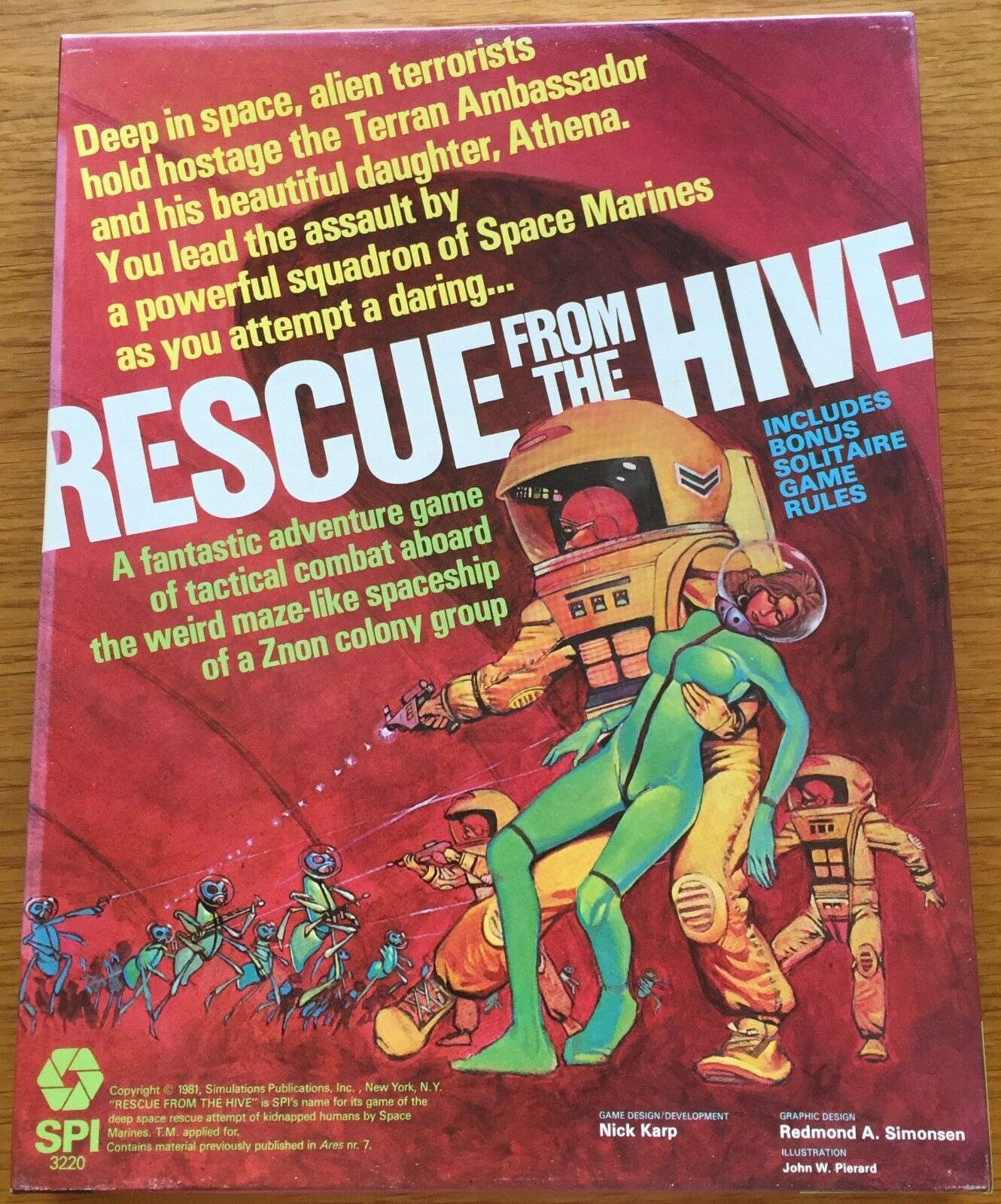 Rescue From The Hive  boxed  - SPI 1981 - COME NUOVO - UNPUNCHED