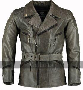 3-4-Mens-Motorcycle-MotorBiker-Long-Vintage-Leather-Jacket-Distressed-Eddie-YKK