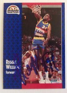 Reggie Williams 1991 Fleer Hand Signed Card Denver Nuggets