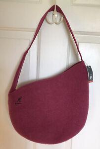 Kangol-Pink-Magenta-Wool-Nylon-Medium-Purse-NEW-NWT-unique-design-cap-hat