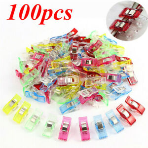 UK Pack of 50//100 Wonder Clips For Fabric Quilting Craft Sewing Knitting Crochet
