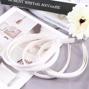 10X-White-No-Teeth-Plastic-Plain-Hair-Bands-Headbands-Accessories-UK
