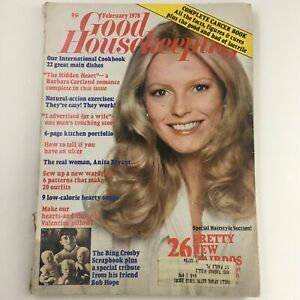 Good Housekeeping Magazine February 1978 Barbara Cartland, Bing Crosby Scrapbook