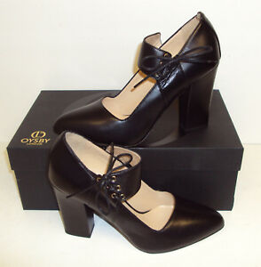 Oysby-London-Ladies-Leather-Black-Heels-HAND-MADE-IN-ITALY-RRP-275-Size-5