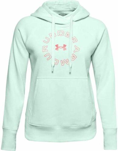 Under Armour Womens UA Rival Fleece Metallic Hoodie Sweatshirt Blue
