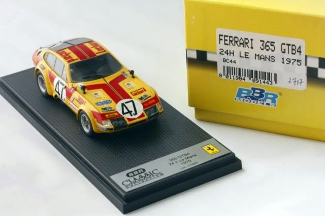 1 43 BBR BC44 Ferrari 365 GTB4 Daytona 24h Le Mans 1975 RARE NEW