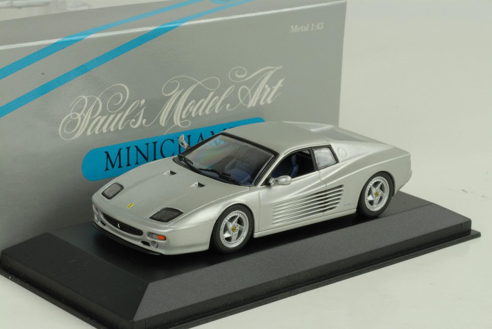 1994 Ferrari 512 M COUPE Plata Plata 1 43 43 43 Minichamps 60497d