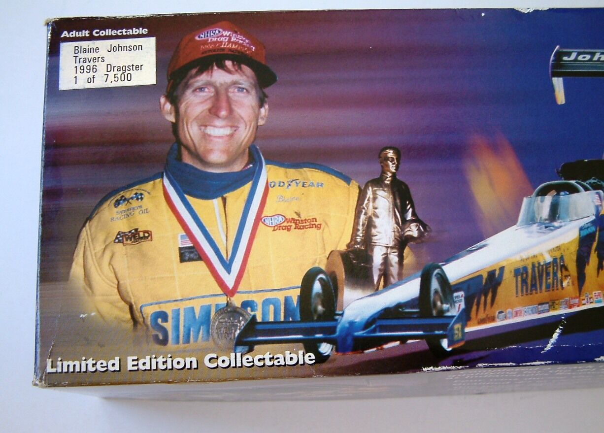 Action 1996 Blaine Johnson Travers NHRA Top Fuel Dragster 1 24 Diecast Limited