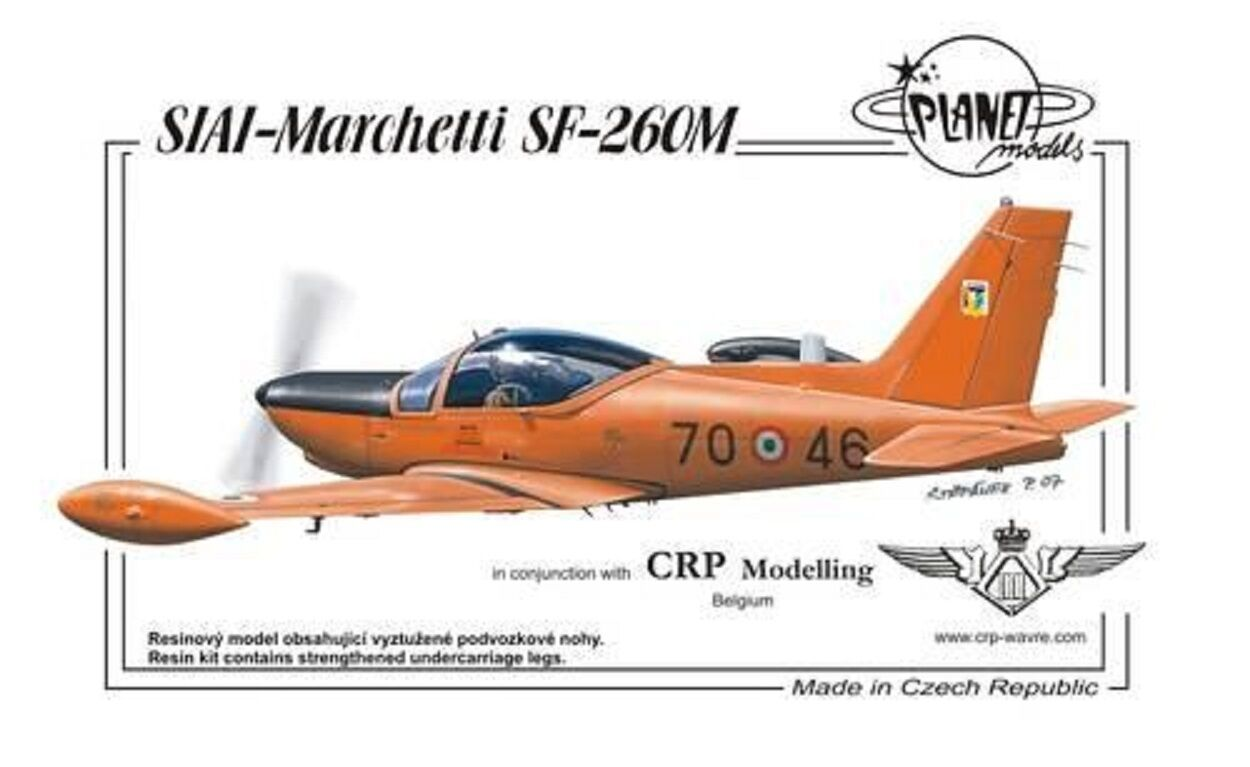 PLANET MODELS PLT198 SIA - Marchetti SF-260 Resin Kit in 1 72