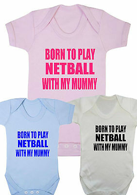 Girls Gift Born to Go Rugby with My Auntie New Baby Vests Bodysuits for Boys